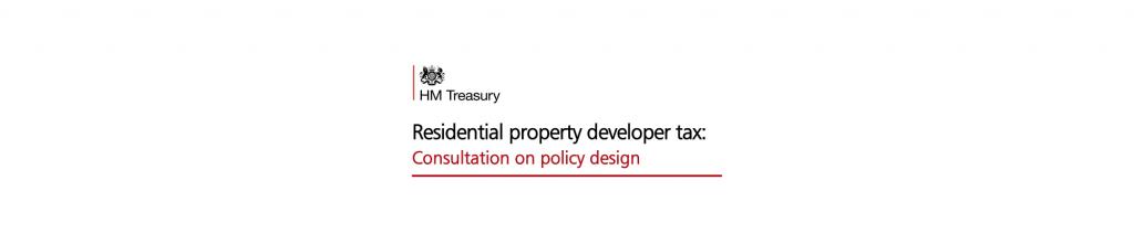 Residential property developer tax
